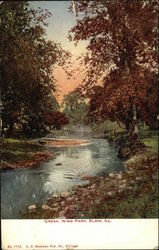 Creek, Wing Park Postcard