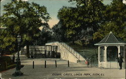 Animal Cages, Lords Park Postcard