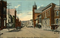 Chicago Street West from Villa Street Postcard
