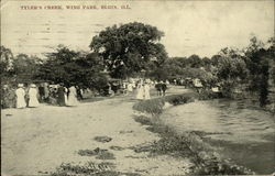 Tyler's Creek, Wing Park Postcard