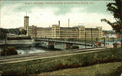 Elgin National Watch Works & Third Rail Postcard