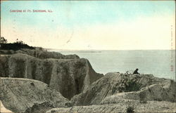 Canyons at Ft. Sheridan, Ill Postcard
