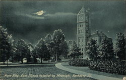 East Illinois Hospital - Main Building by Moonlight