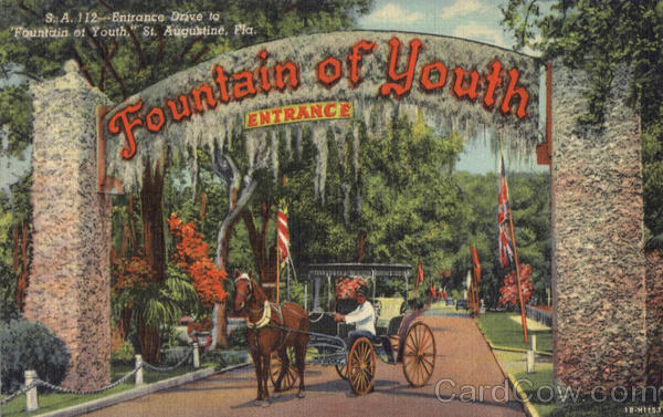 Entrance Drive To Fountain Of Youth St. Augustine Florida