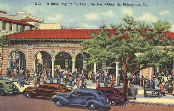 A Busy Day At The Open Air Post Office St. Petersburg Florida