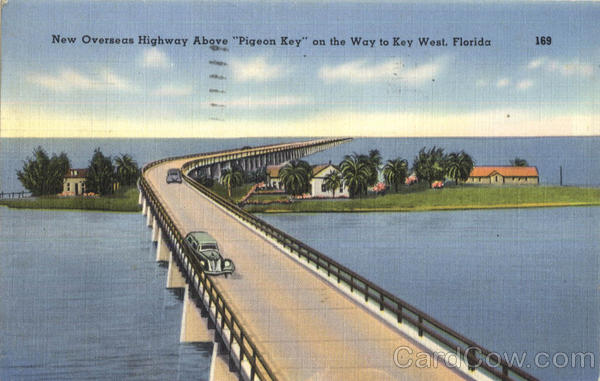 New Overseas Highway Above Pigeon Key Scenic Florida