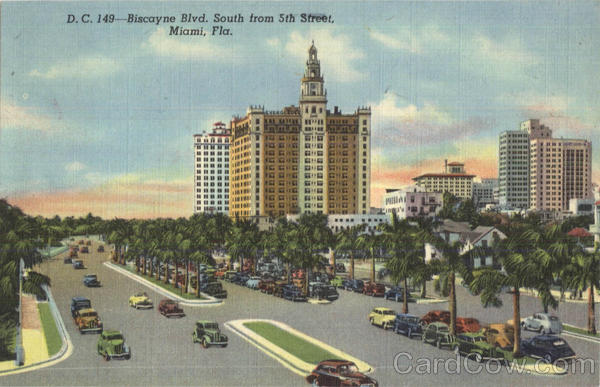 Biscayne Blvd, South From 5th Street Miami Florida