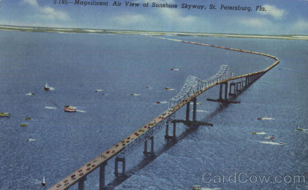 Magnificent Air View Of Sunshine Skyway St. Petersburg Florida