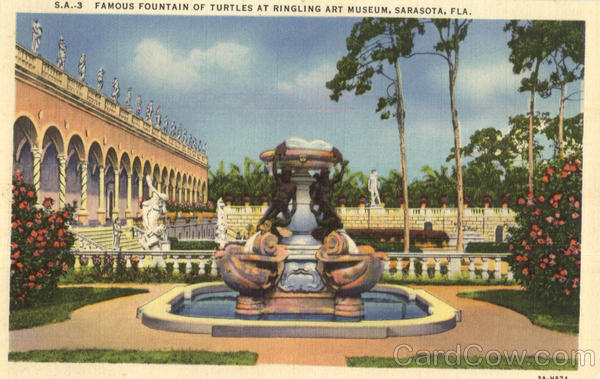 Famous Fountain Of Turtles At Ringling Art Museum Sarasota Florida