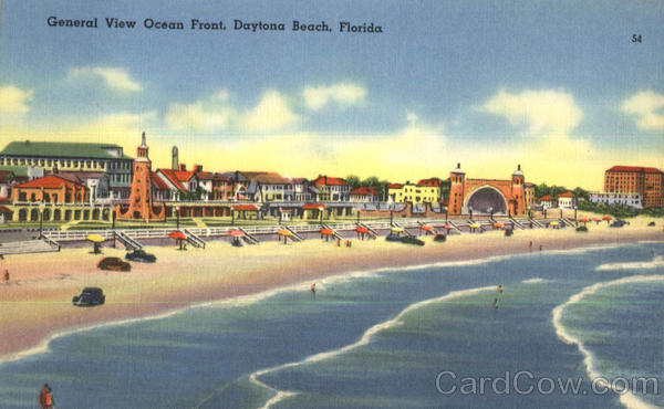General View Ocean Front Daytona Beach Florida