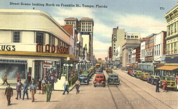 Street Scene Looking North On Franklin St Tampa Florida