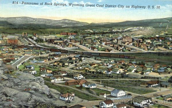 Panorama Of Rock Springs Wyoming