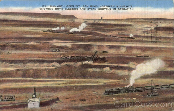 Mammoth Open Pit Iron Mine North Mn