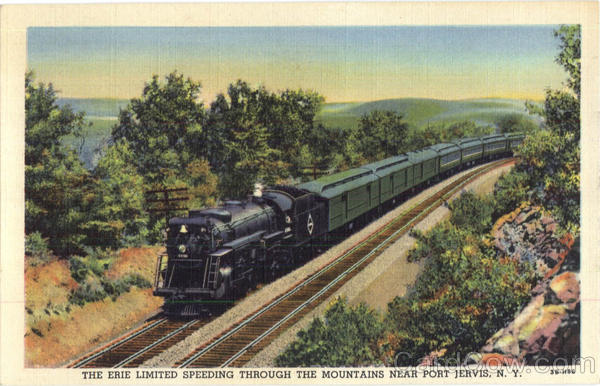 The Erie Limited Speeding Through The Mountains Port Jervis New York