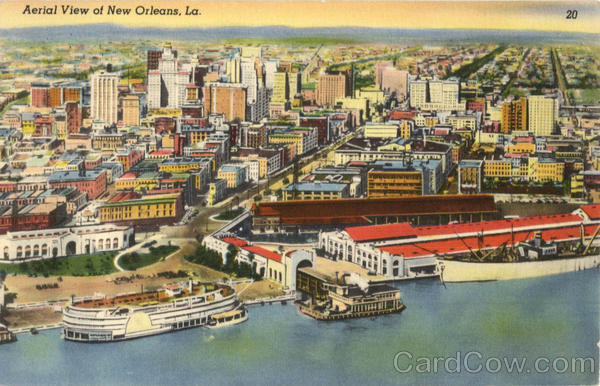 Aerial View Of New Orleans Louisiana