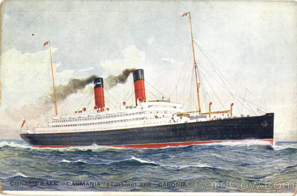 Cunard R.M.S. Carmania And Caronia Boats, Ships