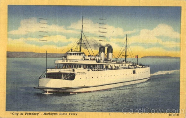City of Petoskey Michigan State Ferry Ferries