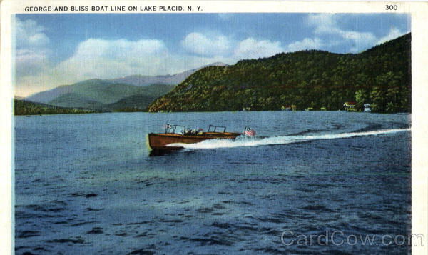 George And Bliss Boat Line On Lake Placid New York