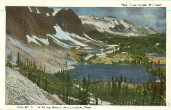 Lake Marie And Snowy Range Near Laramie