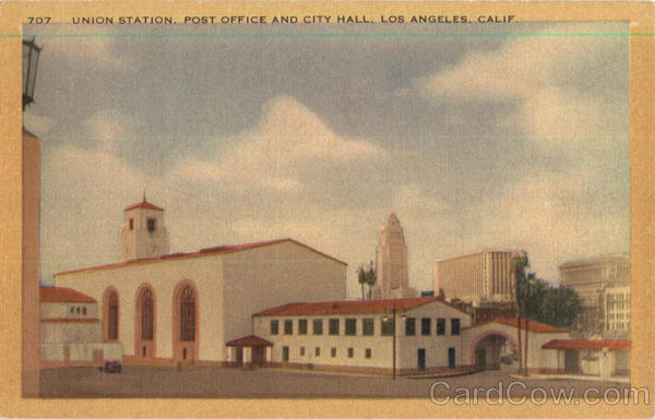 Union Station Post Office And City Hall Los Angeles California