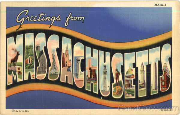 Greetings From Massachusetts Large Letter