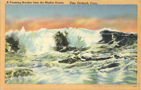 A Foaming Breaker From The Mighty Ocean Pine Orchard Connecticut