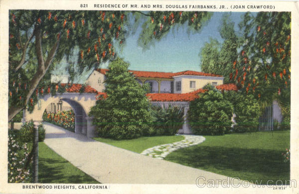Residence Of Mr. And Mrs. Douglas Fairbanks Jr Brentwood Heights California