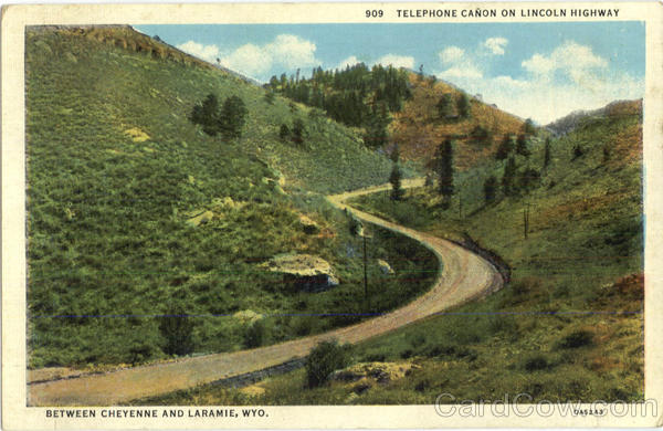 Telephone Canon On Lincoln Highway Scenic Wyoming