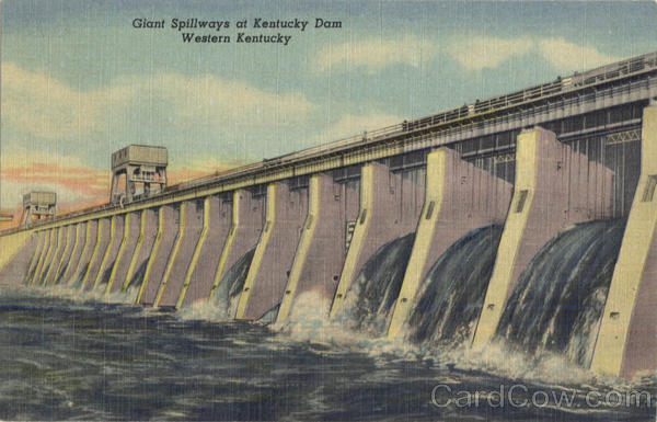 Giant Spillways At Kentucky Dam