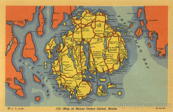 Map Of Mount Desert Island Maine