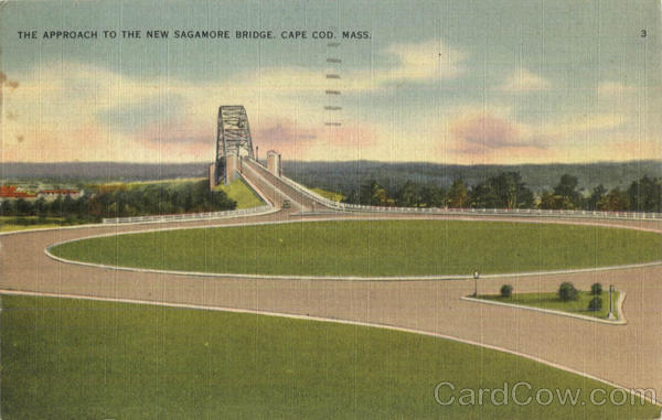 The Approach To The New Sagamore Bridge Cape Cod Massachusetts