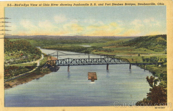 Bird's Eye View Of Ohio River Steubenville
