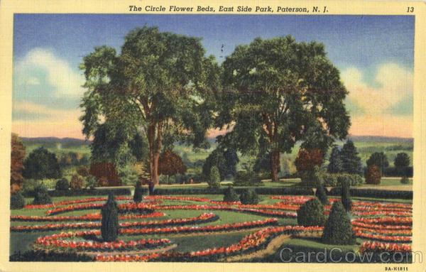 The Circle Flower Beds, East Side Park Paterson New Jersey
