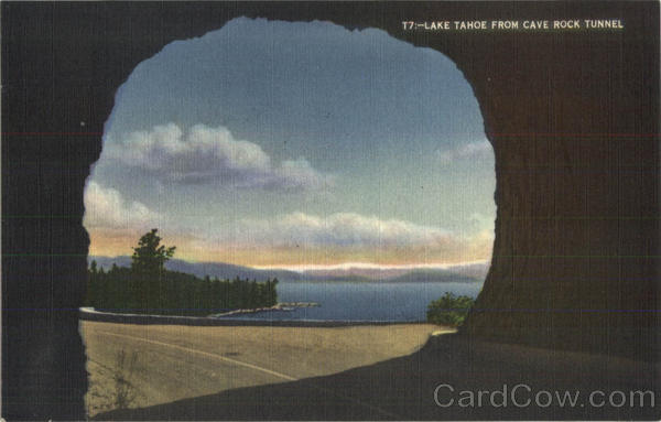 Lake Tahoe From Cave Rock Tunnel Nevada