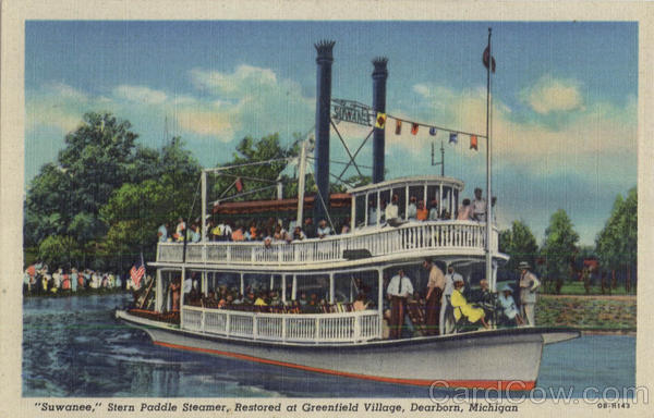 Suwanee Stern Paddle Steamer, Restored at Greenfield Village Dearborn Michigan