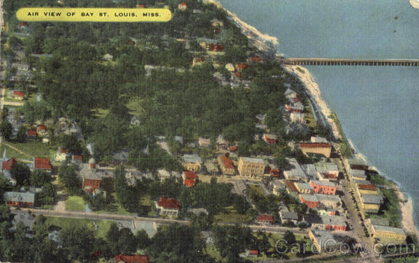 Air View Of Bay St. Louis Mississippi