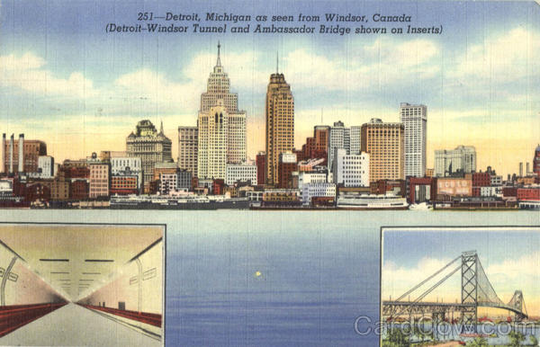 Detroit Michigan As Seen From Windsor