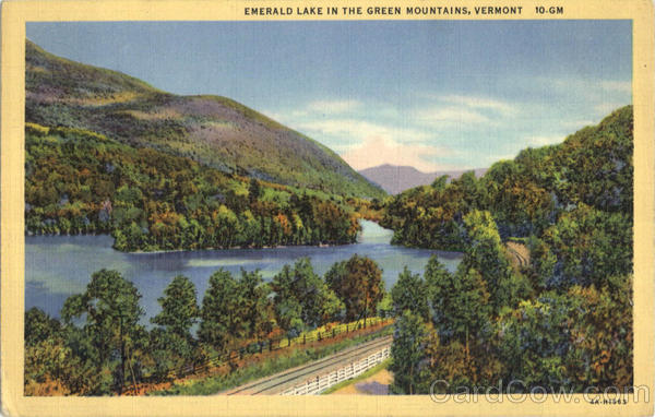 Emerald Lake In The Green Mountains Scenic Vermont