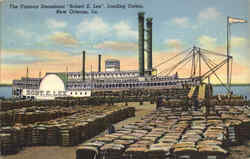 Steamboat Robert E. Lee LOading Cotton