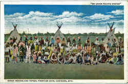 Sioux Indians And Tepees