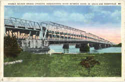 Double Decker Bridge Crossing Susquehanna River