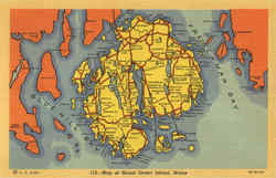 Map Of Mount Desert Island