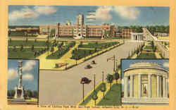 A View Of Chelsea Park Blvd. And High School Postcard