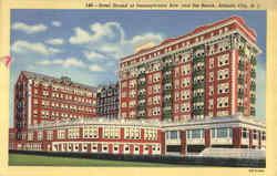 Hotel Strand At Pennsylvania Ave And The Beach Postcard
