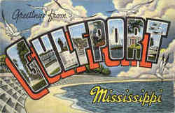 Greetings From Gulfport Postcard