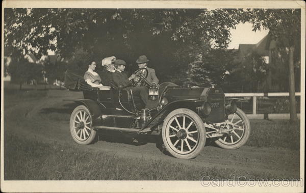 Two Couples in a Great Smith Automobile Cars