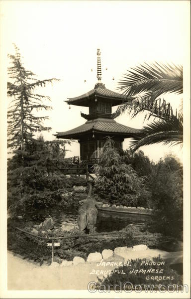 Japanese Gardens - Pagoda Hollywood California