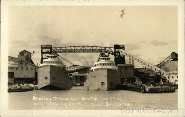 Bradley Trans. Co. Boats Loading and Coaling at M.L. and C. Co. Docks