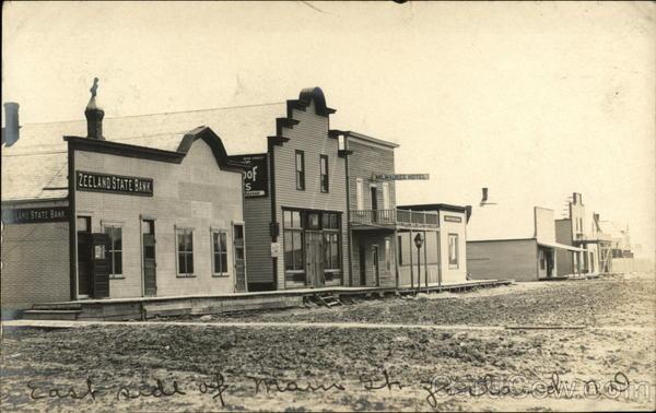 Main Street - East Side Zeeland North Dakota