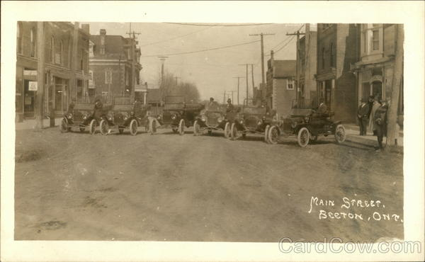 Model T's on Main Street Beeton Canada Ontario Cars